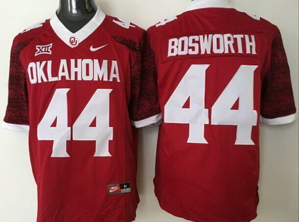 Men's Oklahoma Sooners #44 Brian Bosworth Red 2016 College Football Nike Limited Jersey