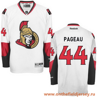 Men's Ottawa Senators #44 Jean-Gabriel Pageau White Stitched NHL Reebok Hockey Jersey