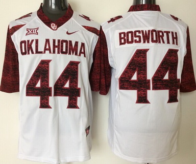 Men's Oklahoma Sooners #44 Brian Bosworth White 2016 College Football Nike Limited Jersey