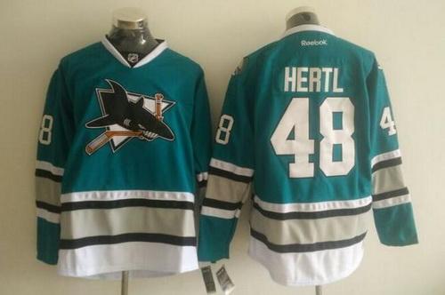 Men's San Jose Sharks #48 Tomas Hertl Teal Green 25th Anniversary NHL Reebok Jersey