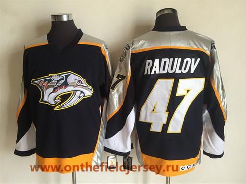 Men's Nashville Predators #47 Alexander Radulov Navy Blue 1998-99 Throwback Stitched NHL CCM Vintage Hockey Jersey