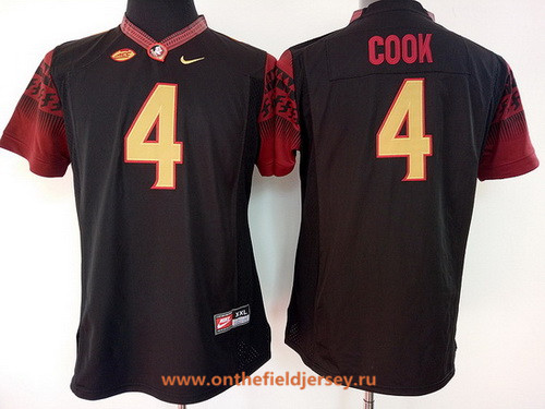 Women's Florida State Seminoles #4 Dalvin Cook Black Stitched College Football Nike NCAA Jersey
