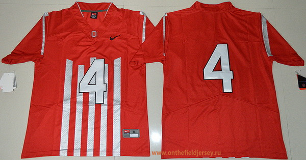 Men's Ohio State Buckeyes #4 Curtis Samuel 1917 Throwback Red Limited Stitched College Football Nike NCAA Jersey