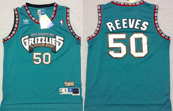 Memphis Grizzlies #50 Bryant Reeves Green Hardwood Classics Swingman Throwback Jersey