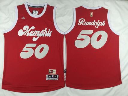 Men's Memphis Grizzlies #50 Zach Randolph Revolution 30 Swingman 2015-16 Retro Red Jersey