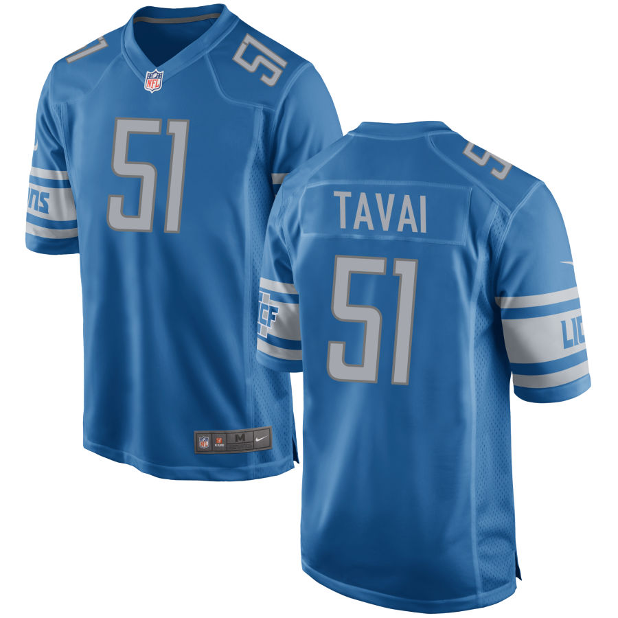 Men's Detroit Lions #51 Jahlani Tavai Light Blue NFL Nike Limited Jersey