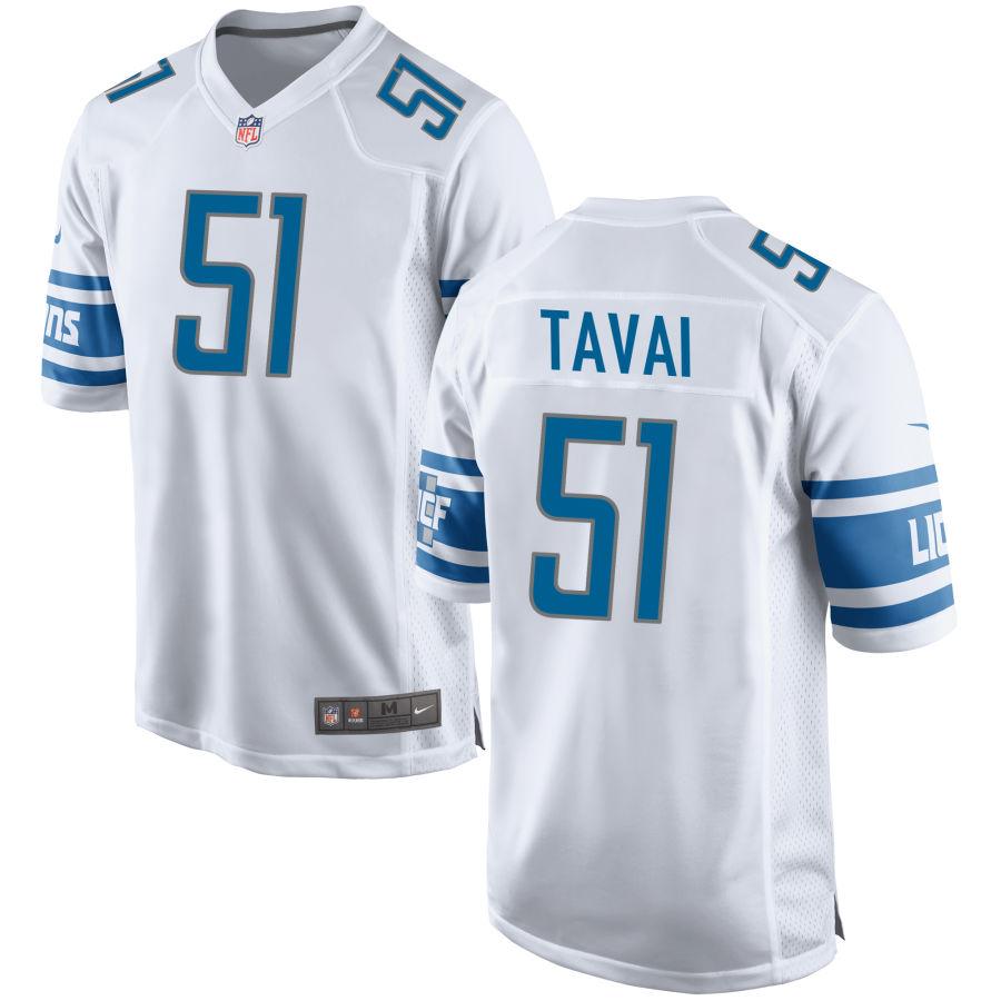 Men's Detroit Lions #51 Jahlani Tavai White NFL Nike Limited Jersey