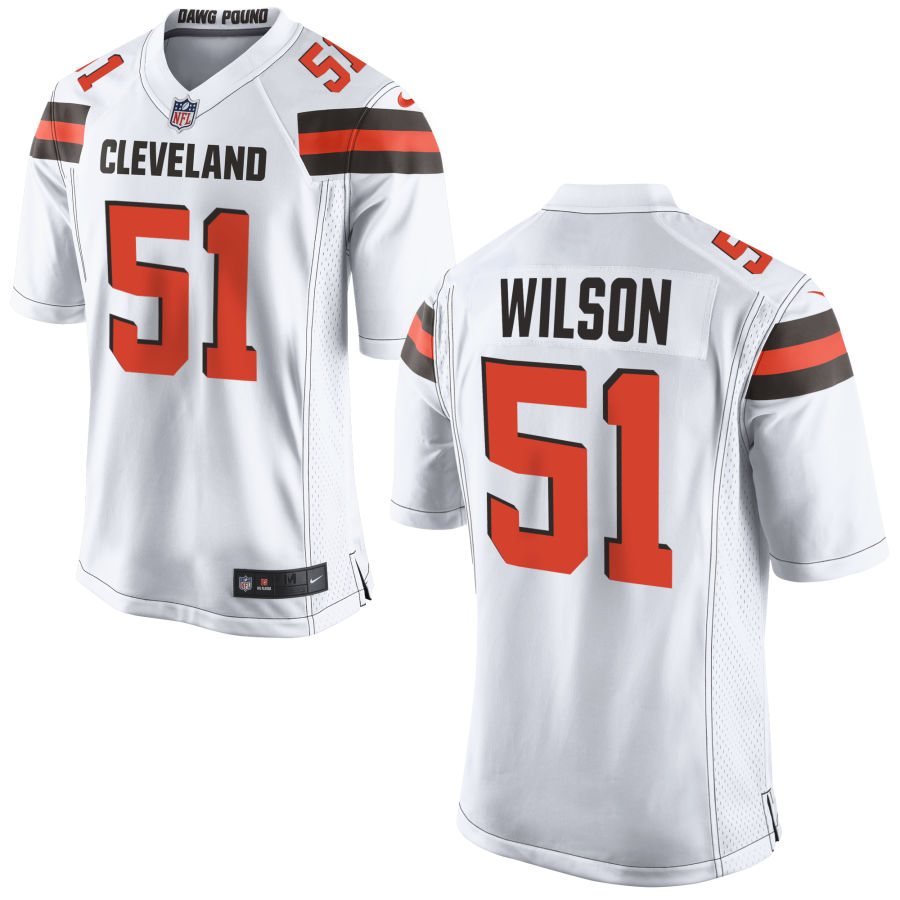 Men's Cleveland Browns #51 Mack Wilson White Stitched NFL Nike Game Jersey