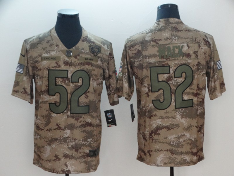 Men's Chicago Bears #52 Khalil Mack Nike Camo 2018 Salute to Service Stitched NFL Limited Jersey