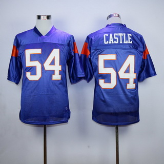 Men's The Movie Blue Mountain State #54 Kevin Thad Castle Purple Football Jersey