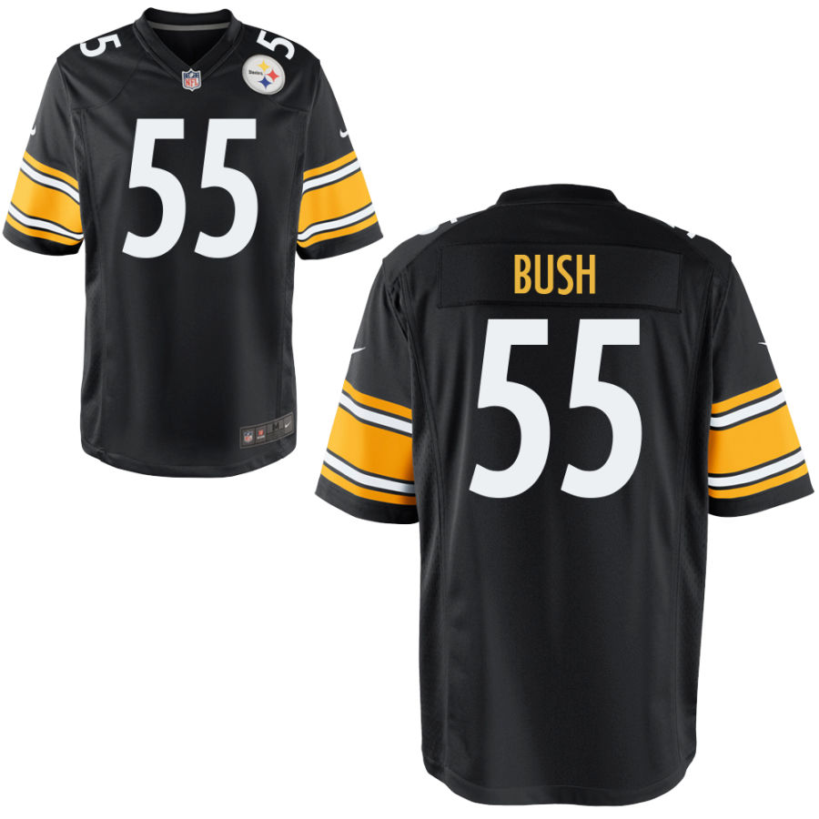 Men's Pittsburgh Steelers #55 Devin Bush Black Stitched NFL Nike Limited Jersey