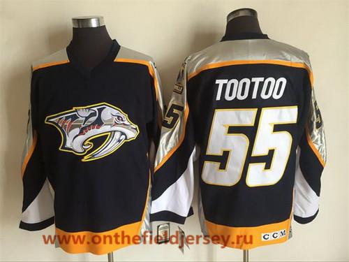 Men's Nashville Predators #55 Jordin Tootoo Navy Blue 1998-99 Throwback Stitched NHL CCM Vintage Hockey Jersey