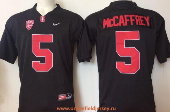 Men's Stanford Cardinal #5 Christian McCaffrey Black Stitched College Football Nike NCAA Jersey