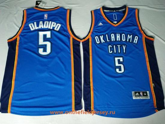Men's Oklahoma City Thunder #5 Victor Oladipo Blue Stitched NBA Adidas Revolution 30 Swingman Jersey