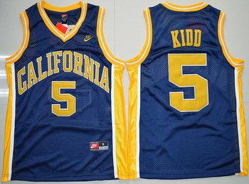 Men's California Golden Bears #5 Jason Kidd Navy Blue College Basketball Nike Swingman Jersey
