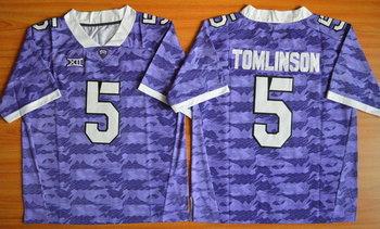 Men's TCU Horned Frogs #5 LaDainian Tomlinson Purple College Football Limited Jersey