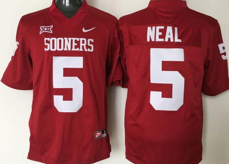 Men's Oklahoma Sooners #5 Durron Neal Red College Football Nike Jersey