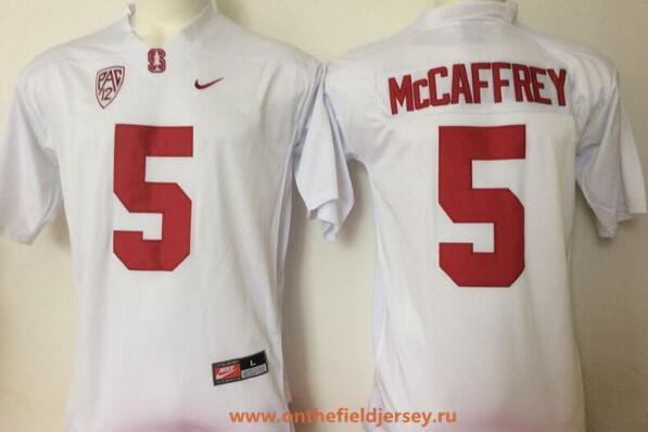 Men's Stanford Cardinal #5 Christian McCaffrey White Stitched College Football Nike NCAA Jersey