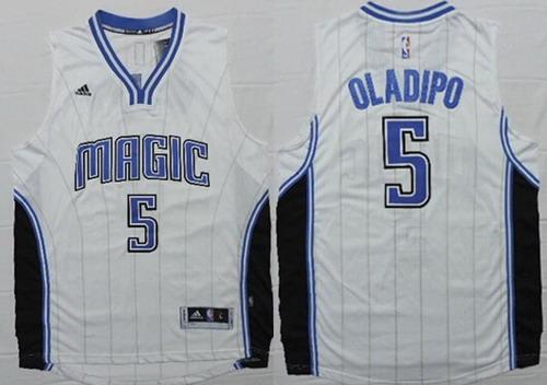 Men's Orlando Magic #5 Victor Oladipo Revolution 30 Swingman New White Jersey