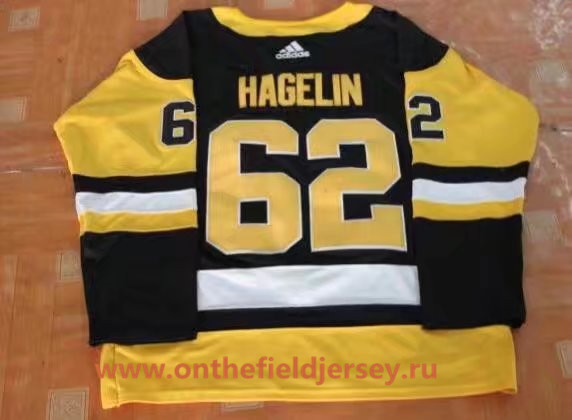 Youth Pittsburgh Penguins #62 Carl Hagelin Black Home 2017-2018 adidas Hockey Stitched NHL Jersey