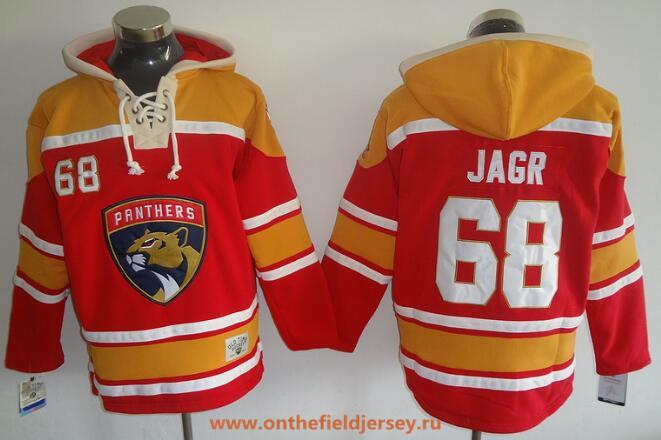 Men's Florida Panthers #68 Jaromir Jagr 2016-17 Red Stitched NHL Old Time Hockey Hoodie