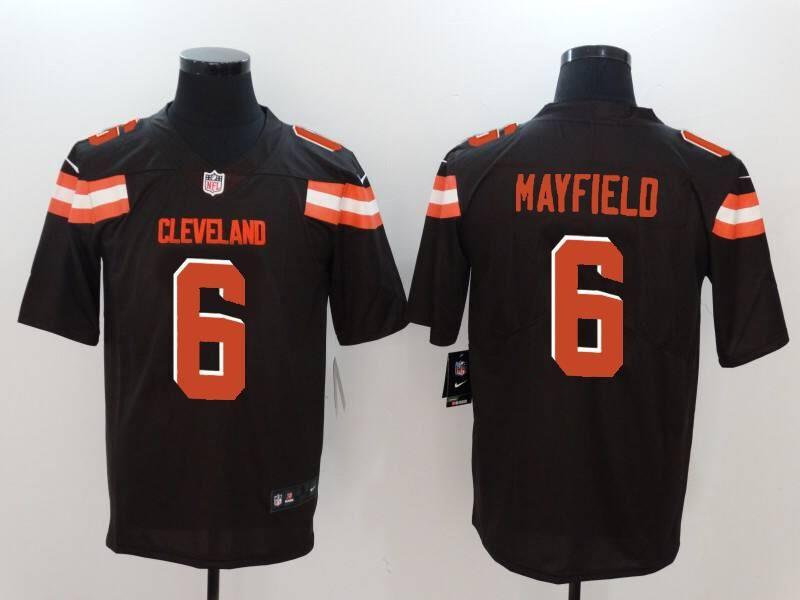 Men's Cleveland Browns #6 Baker Mayfield Brown Vapor Untouchable Stitched NFL Nike Limited Jersey