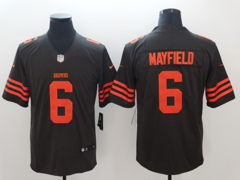 Men's Cleveland Browns #6 Baker Mayfield Brown Color Rush Stitched NFL Nike Limited Jersey