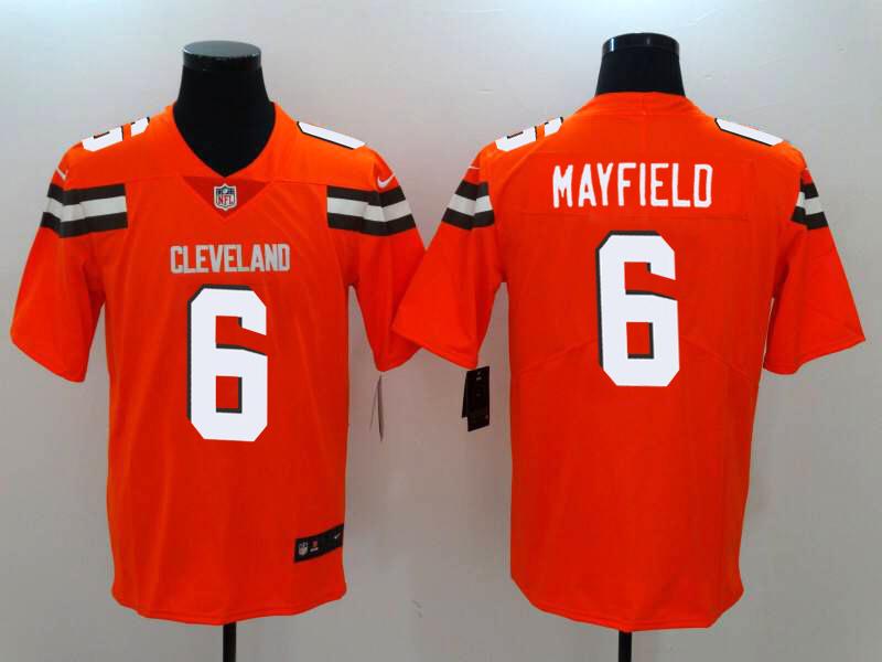 Men's Cleveland Browns #6 Baker Mayfield Orange Vapor Untouchable Stitched NFL Nike Limited Jersey