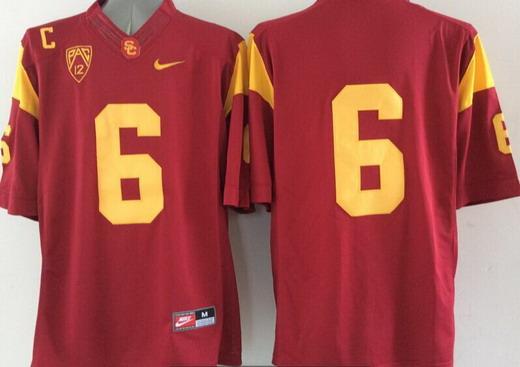 Men's USC Trojans #6 Cody Kessler Red 2015 College Football Nike Limited Jersey