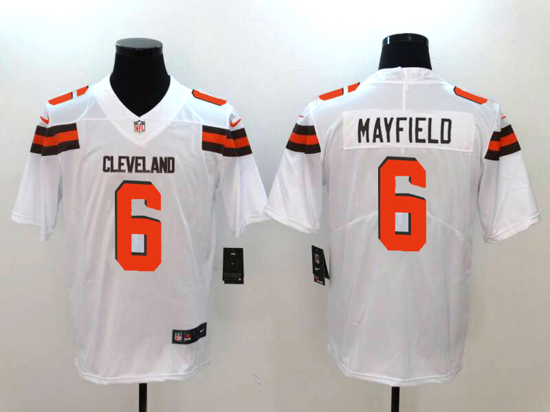 Men's Cleveland Browns #6 Baker Mayfield White Vapor Untouchable Stitched NFL Nike Limited Jersey