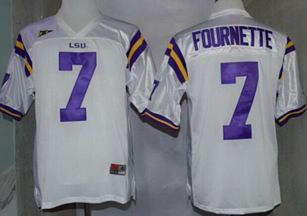 LSU Tigers #7 Leonard Fournette White Jersey