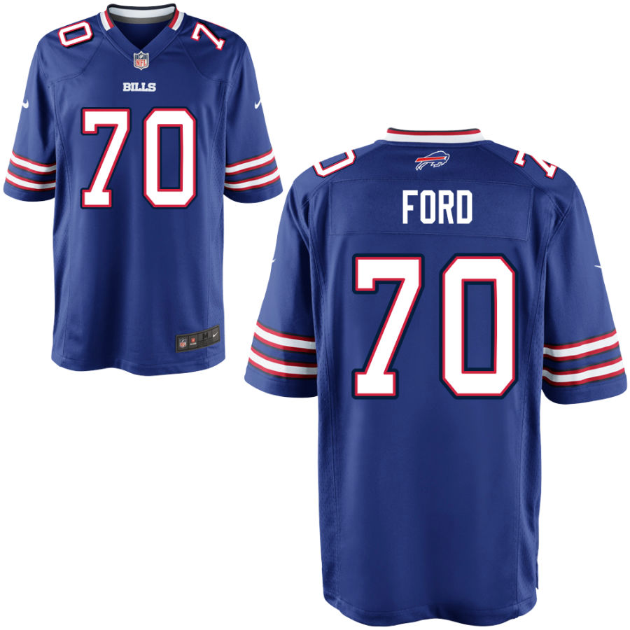 Men's Buffalo Bills #70 Cody Ford Blue Stitched NFL Nike Game Jersey