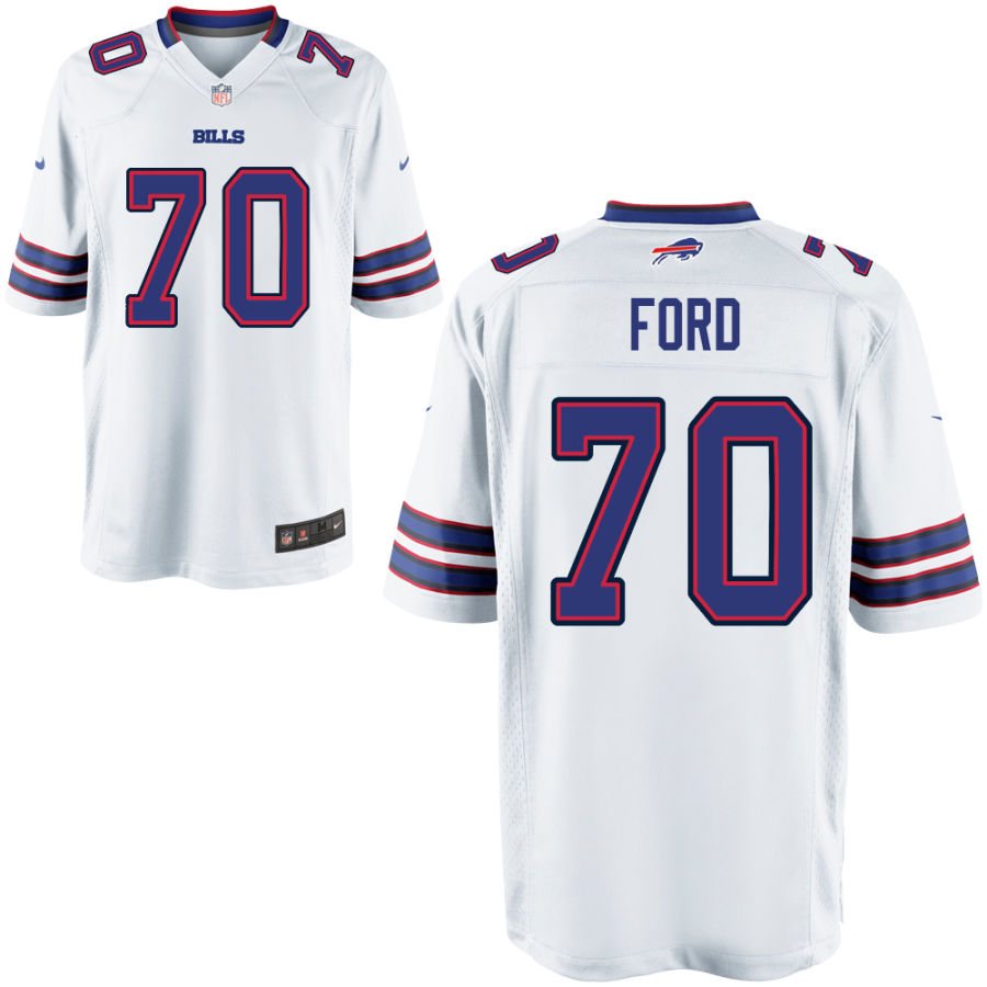 Men's Buffalo Bills #70 Cody Ford White Stitched NFL Nike Game Jersey