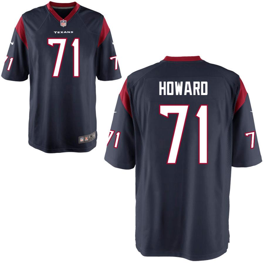 Men's Houston Texans #71 Tytus Howard Navy Blue Team Color Stitched NFL Nike Game Jersey