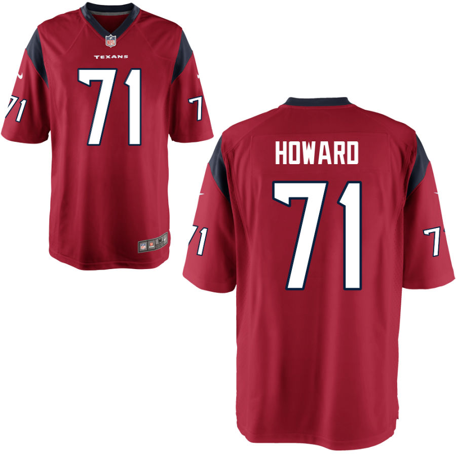 Men's Houston Texans #71 Tytus Howard Red Alternate Stitched NFL Nike Game Jersey