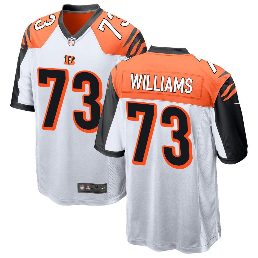 Men's Cincinnati Bengals #73 Jonah Williams White Stitched NFL Nike Game Jersey