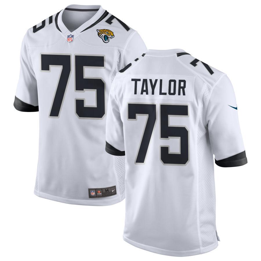 Men's Jacksonville Jaguars #75 Jawaan Taylor White Road Stitched NFL Nike Game Jersey