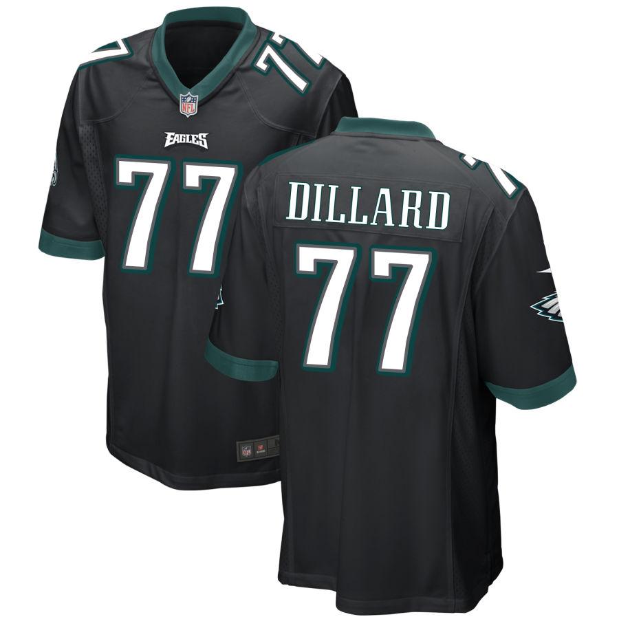 Men's Philadelphia Eagles #77 Andre Dillard Black Stitched NFL Nike Game Jersey