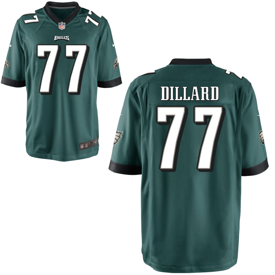 Men's Philadelphia Eagles #77 Andre Dillard Green Team Color Stitched NFL Nike Game Jersey