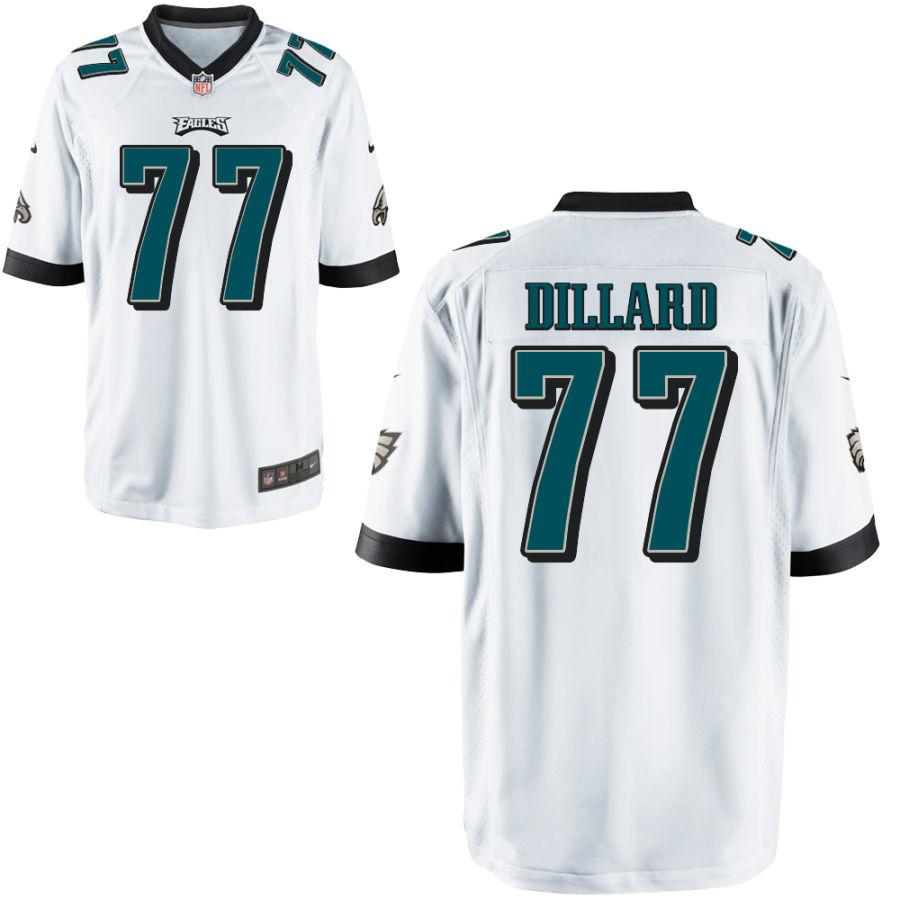 Men's Philadelphia Eagles #77 Andre Dillard White Stitched NFL Nike Game Jersey
