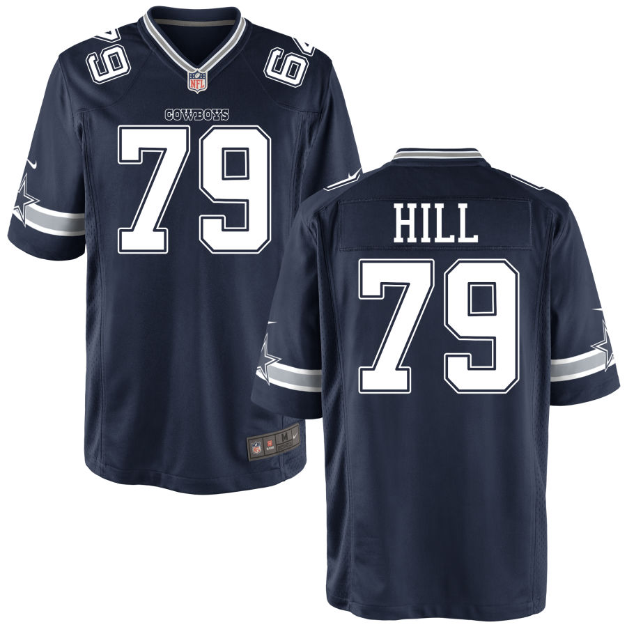 Men's Dallas Cowboys #79 Trysten Hill Navy Blue Stitched NFL Nike Game Jersey