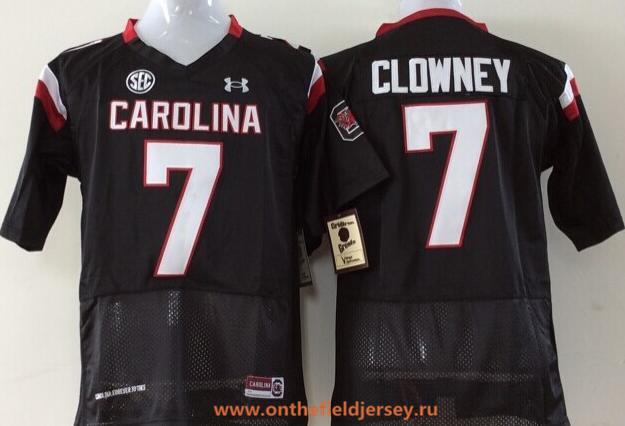 Men's South Carolina Gamecocks #7 Jadeveon Clowney Black Stitched College Football Under Armour NCAA Jersey