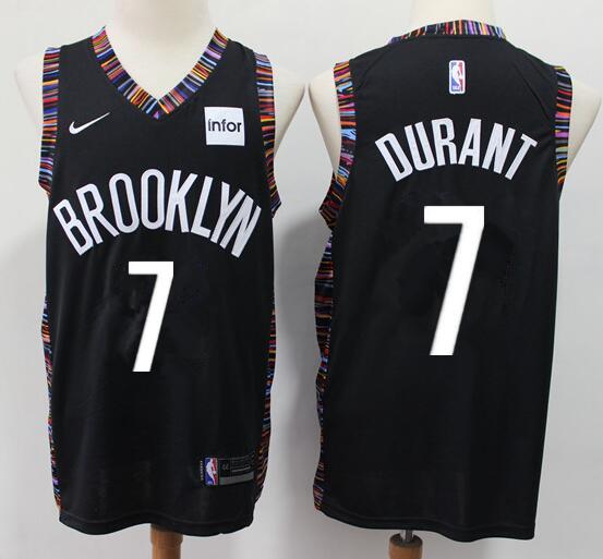 Men's Brooklyn Nets #7 Kevin Durant Black City Edition Nike Swingman Stitched NBA Jersey