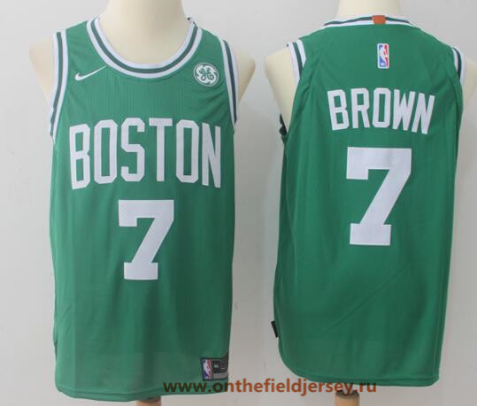 Men's Boston Celtics #7 Jaylen Brown Green 2017-2018 Nike Swingman General Electric Stitched NBA Jersey