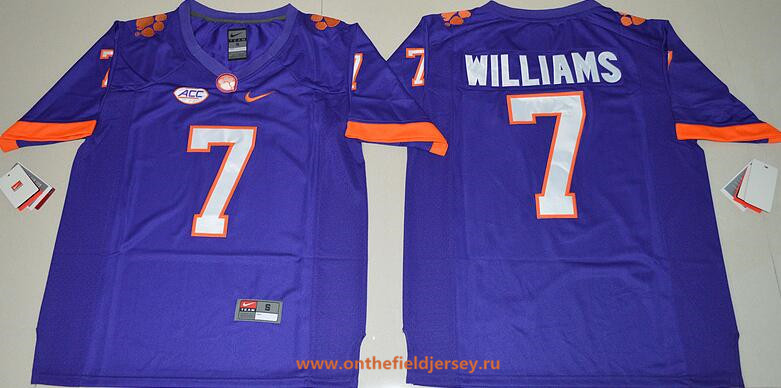 Men's Clemson Tigers #7 Mike Williams Purple Stitched NCAA Nike 2016 College Football Jersey