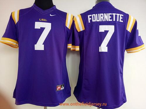 Women's LSU Tigers #7 Leonard Fournette Purple Limited Stitched College Football Nike NCAA Jersey