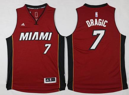 Men's Miami Heat #7 Goran Dragic Revolution 30 Swingman 2014 New Red Jersey