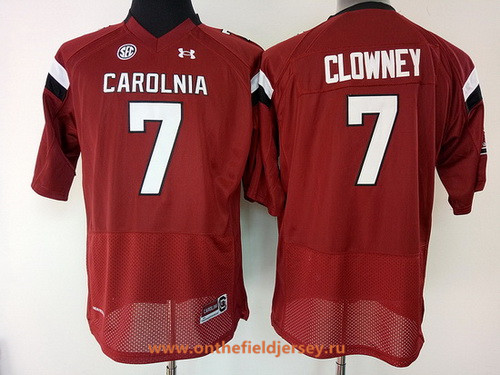 Women's South Carolina Gamecocks #7 Jadeveon Clowney Red Stitched College Football Under Armour NCAA Jersey