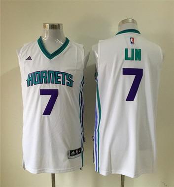Men's Charlotte Hornets #7 Jeremy Lin Revolution 30 Swingman 2015 New White Jersey
