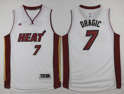 Men's Miami Heat #7 Goran Dragic Revolution 30 Swingman 2014 New White Jersey